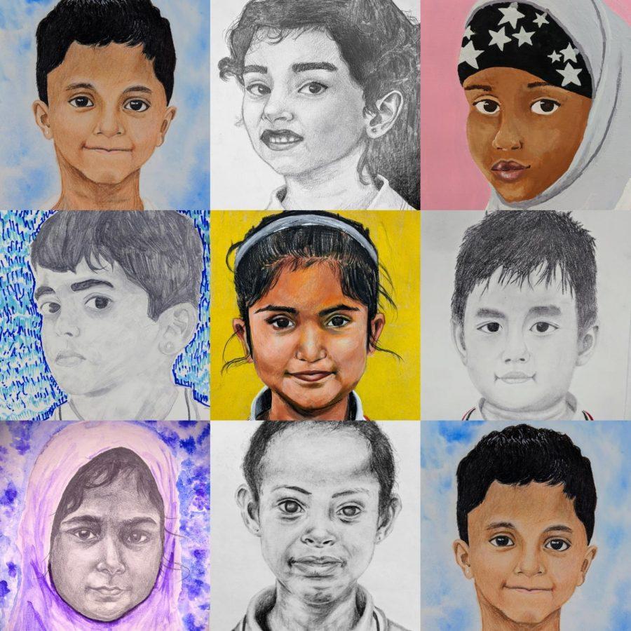 Artwork by (L to R, top row to bottom): Emma-Leigh Johnson, Gianna Uhler, Anna De Leao, Matthew Diem, Hannah Hirsch, Liam Kephart, Jordan Oldenburg, Rachel Roye