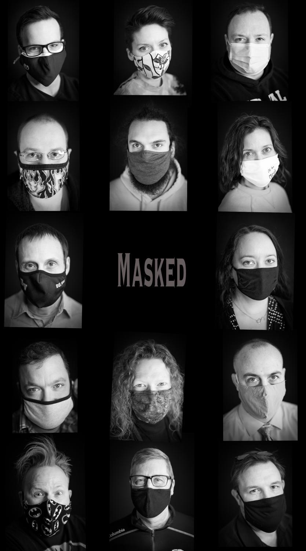 Masked (Photo Collage) by Sarah Ruppert, Art Teacher