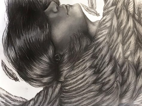 """""""Icarus"""" by Kristin Rule, Class of 2023, Pencil Drawing"""