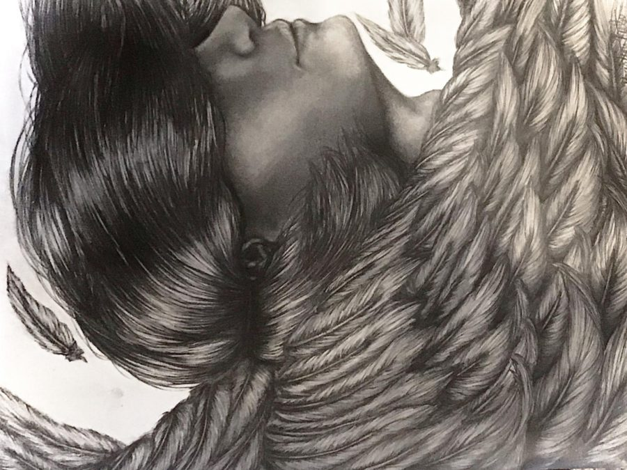 Icarus by Kristin Rule, Class of 2023, Pencil Drawing