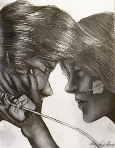 Tragic Farewell by Kristin Rule, Class of 2023, Pencil Drawing